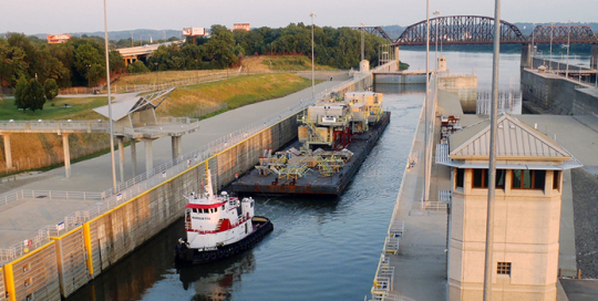 McAlpine Lock and Dam in Louisville, KY